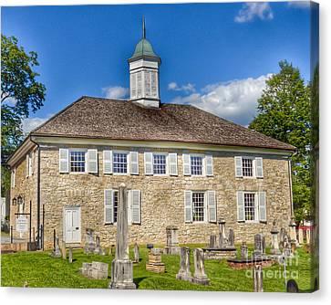 The Old Stone Church Lewisburg West Virginia Canvas Print by Kerri Farley