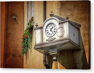 Suisse Canvas Print - The Old Swiss Clock Geneva  by Carol Japp