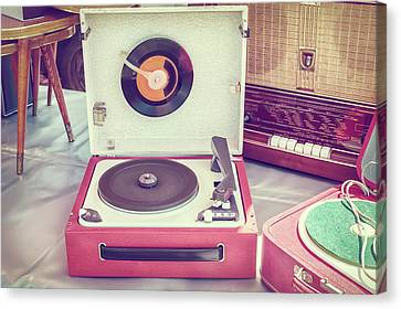 The Old Turntable Canvas Print