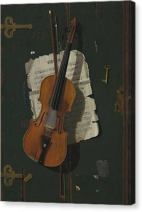 Violin Canvas Print - The Old Violin by John Frederick Peto