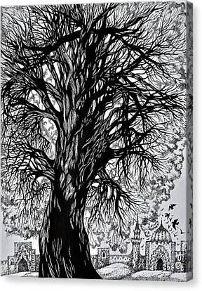 The Old Warrior Canvas Print by Anna Duyunova