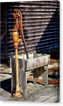 The Old Water Pump Canvas Print by Olivier Le Queinec