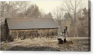 Canvas Print featuring the photograph The Old Well Pump by Robin-Lee Vieira