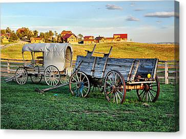 Canvas Print featuring the photograph The Old West by Barbara Manis