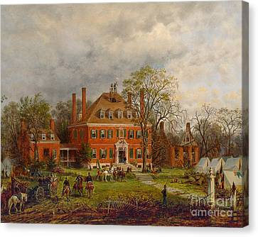 The Old Westover House Canvas Print