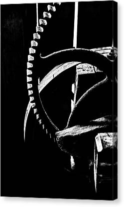 Old Mills Canvas Print - The Old Wheel In Black And White by Tommytechno Sweden