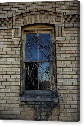 The Old Window Canvas Print by Laurie With
