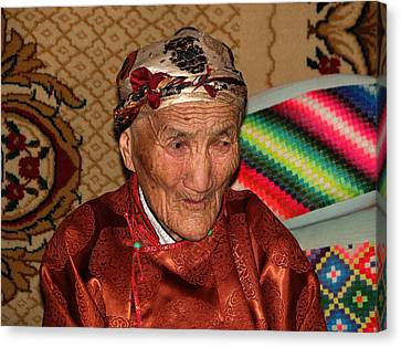 The Old Woman Of The Gobi Canvas Print by Diane Height