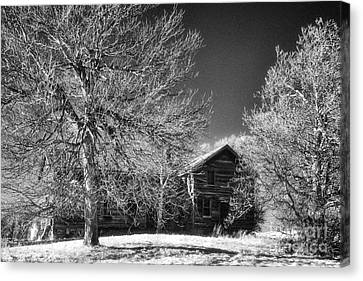 The Old Wood House Canvas Print by Jeff Holbrook