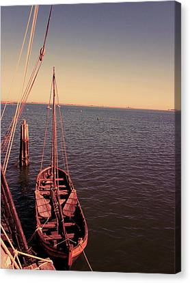 The Old Wooden Boat Canvas Print by Lourry Legarde