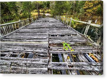 The Old Wooden Bridge Canvas Print