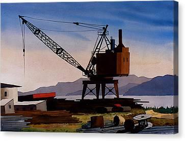 The Oldcrane Canvas Print by Faye Ziegler