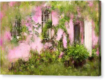 The Olde Pink House In Savannah Georgia Canvas Print