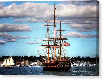 Canvas Print featuring the photograph Tall Ship The Oliver Hazard Perry by Tom Prendergast