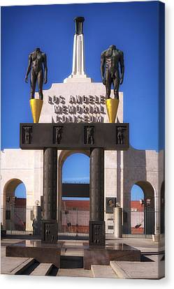 The Olympic Gateway Arch - Los Angeles Memorial Coliseum  Canvas Print