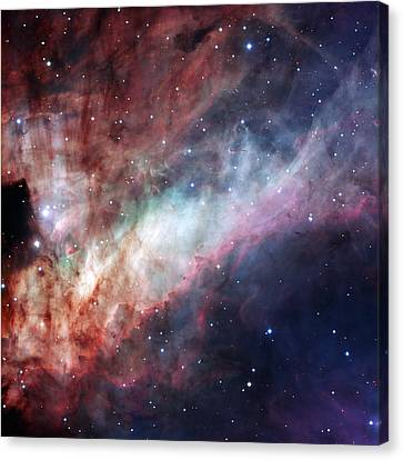 Canvas Print featuring the photograph The Omega Nebula by Eso