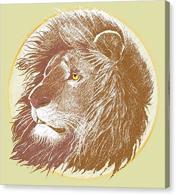 Lions Canvas Print - The One True King by J L Meadows