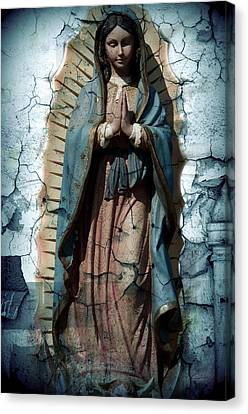 Our Lady Of Guadalupe Canvas Print - The One Who Crushes The Serpent  by Melissa Wyatt