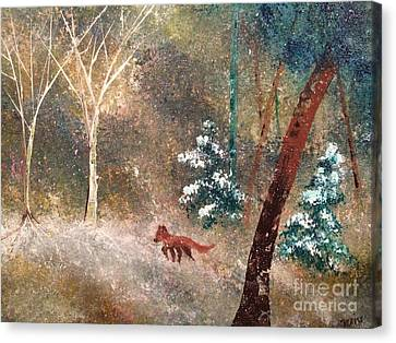Canvas Print featuring the painting The Onion Snow by Denise Tomasura