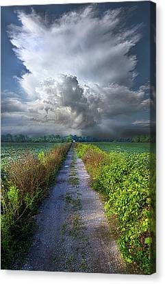 The Only Way In Canvas Print by Phil Koch