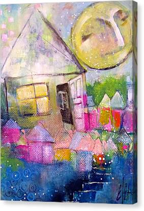 Canvas Print featuring the painting The Open Door by Eleatta Diver
