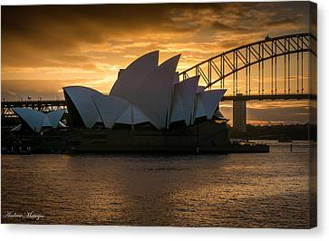 The Opera House Canvas Print by Andrew Matwijec