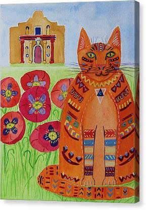 the Orange Alamo Cat Canvas Print