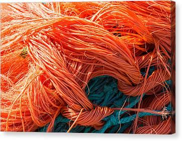 The Orange Nets Canvas Print by Sophie De Roumanie