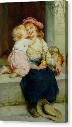 The Orange Seller Canvas Print