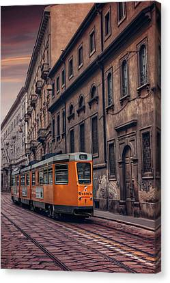 The Orange Tram Canvas Print