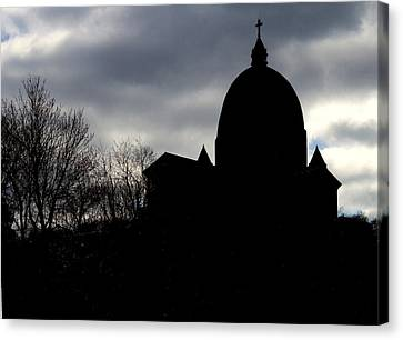 The Oratory - Silhouette Canvas Print by Robert Knight