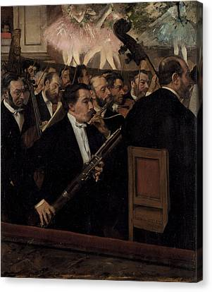 The Orchestra At The Opera  1870 Canvas Print