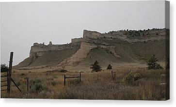 Canvas Print featuring the photograph The Oregon Trail Scotts Bluff Nebraska by Christopher Kirby