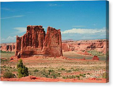The Plateaus Canvas Print - The Organ Arches National Park by Corey Ford