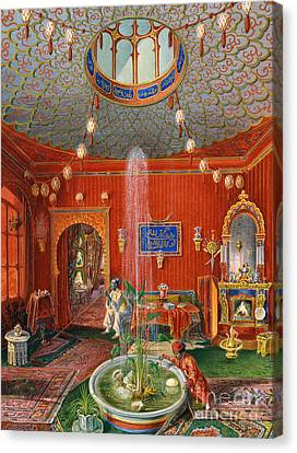 The Oriental Room In Villa Lazarovich, Trieste Residence Of Maximilian Of Habsburg Canvas Print by German School