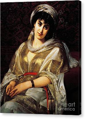 The Oriental Woman Canvas Print