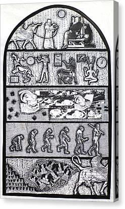 The Origin Of Feces Canvas Print by Tom Calderon