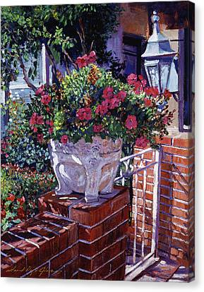 The Ornamental Floral Gate Canvas Print by David Lloyd Glover