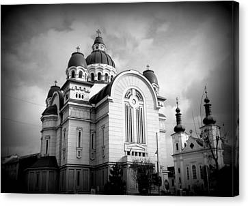 The Orthodox Cathedral And The Saint John The Baptist Church Canvas Print