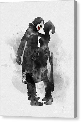 The Other Half Of My Craziness Canvas Print by Rebecca Jenkins