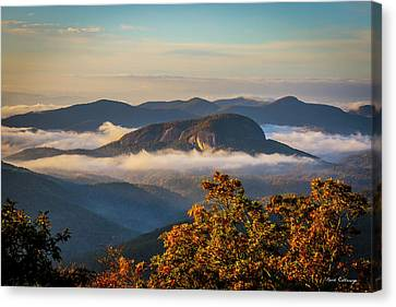 The Other Rock Looking Glass Rock Blue Ridge Parkway Art Canvas Print