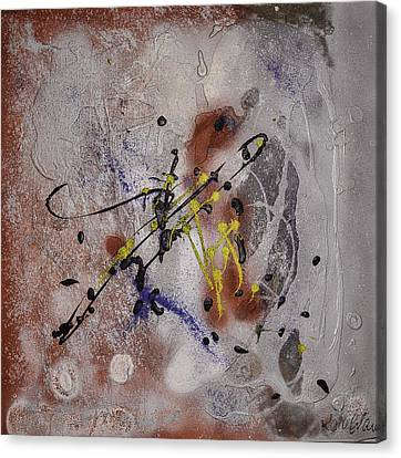 Canvas Print featuring the painting The Other Side Of The Brain#2 by Karo Evans