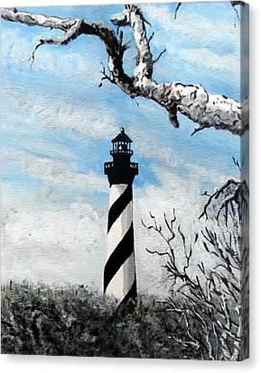 The Other View Of Hatteras Canvas Print