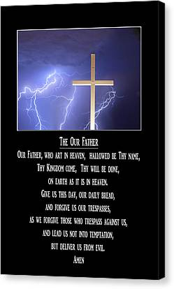 The Our Father Prayer Canvas Print by James BO  Insogna