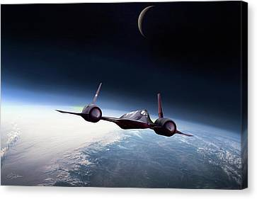Shock Canvas Print - The Outer Limits by Peter Chilelli