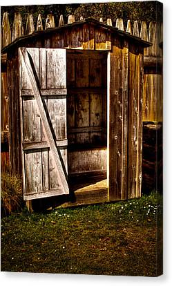 The Outhouse At Fort Nisqually Canvas Print by David Patterson