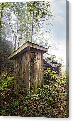 The Outhouse Canvas Print by Debra and Dave Vanderlaan