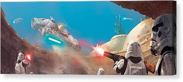 The Outrider Escapes Canvas Print by Ryan Barger