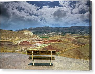 Canvas Print - The Overlook At Painted Hills In Oregon by David Gn