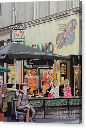 The Oyster Cafe Canvas Print
